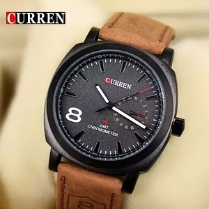 Bolun Curen Brown Men Wrist watch