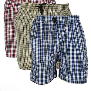 Men's Checked Boxers | Pack of 3 | Red, Blue & Yellow