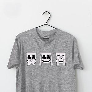 The Artisan Men's Round Neck Tshirt | Grey Printed T-shirt |