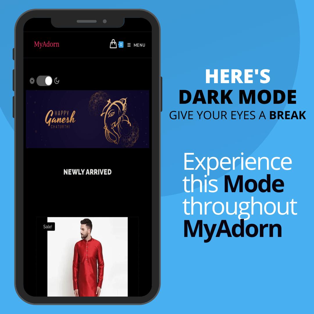 MyAdorn Dark Mode