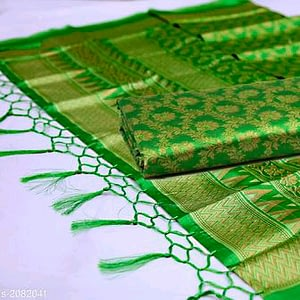 Diva Mysore Silk Sarees With Tassels And Latkans
