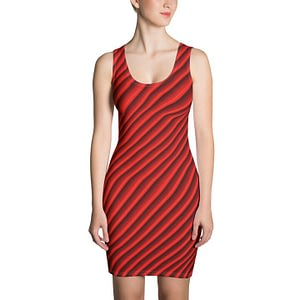 Sublimation Cut & Sew Dress in red