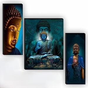Sitting Buddha Frame (Set 3)