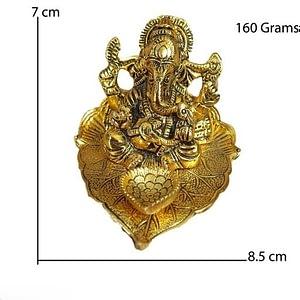 Metal Ganesh idol For Home Décor
