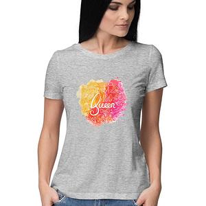 Round neck women t-shirt