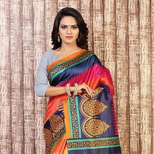 Designer Bhagalpuri Silk Saree.