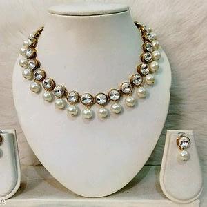 Alloy & Kundan Beads Necklace Sets.